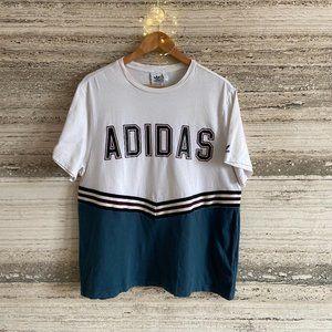 Adidas Tee-Shirt Size UK 8 White Vintage